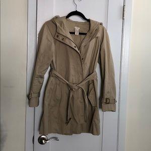 J crew trench coat size 2